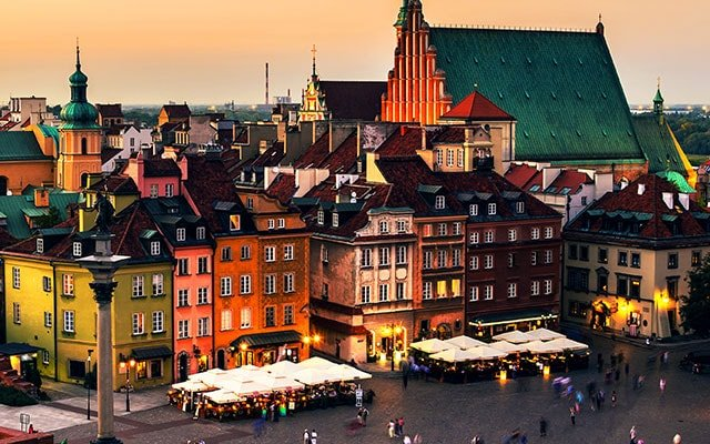 Old town in Warsaw