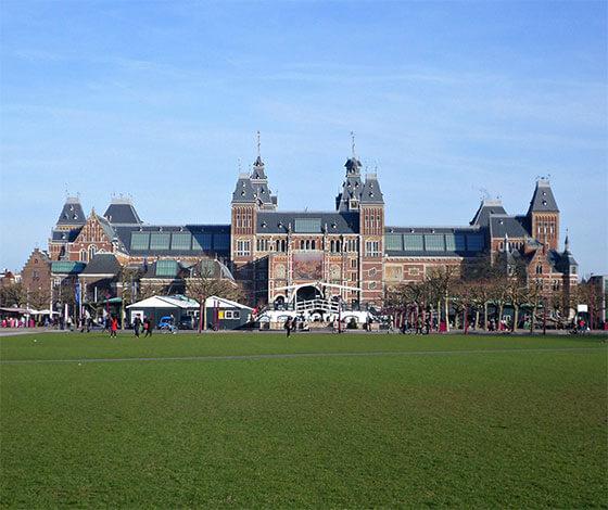 Rijksmuseum on Museumplein, Amsterdam