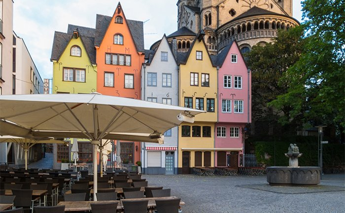 head to the bustling city of cologne by train