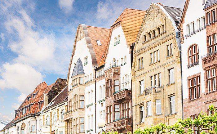 De oude binnenstad van Düsseldorf