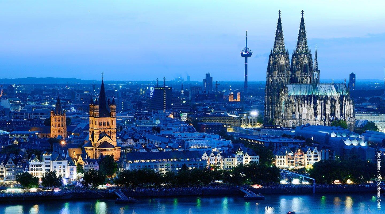 Het panorama van Keulen