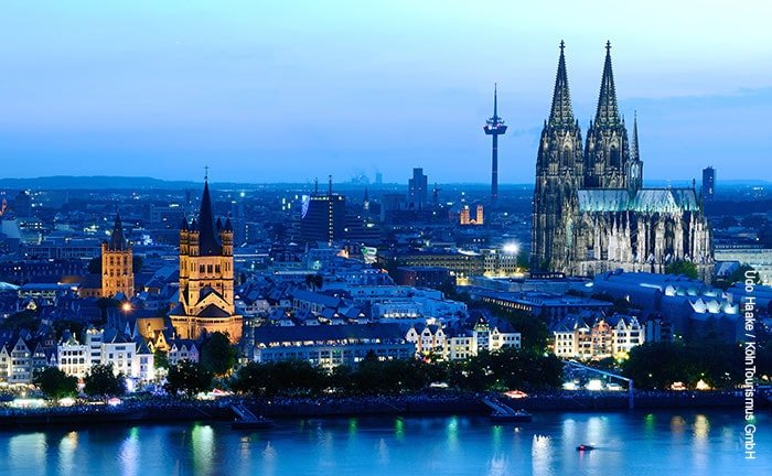 Vue panoramique de Cologne