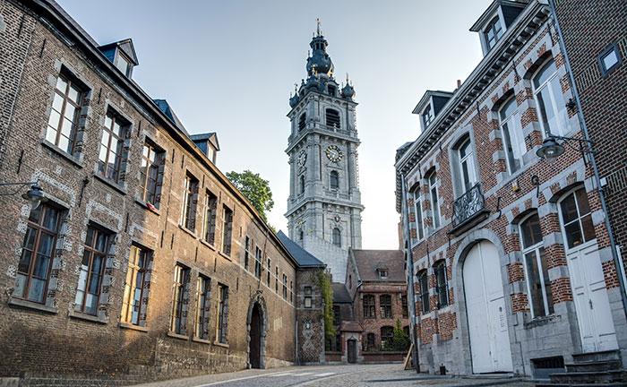 Baroque belfry in Mons