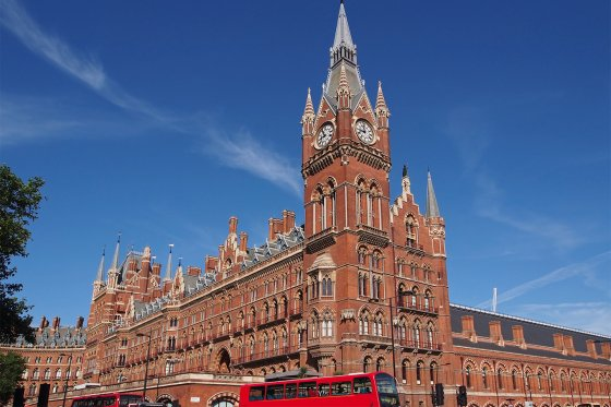 London St Pancras International train station