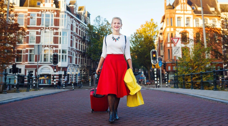 Touristin in Amsterdam