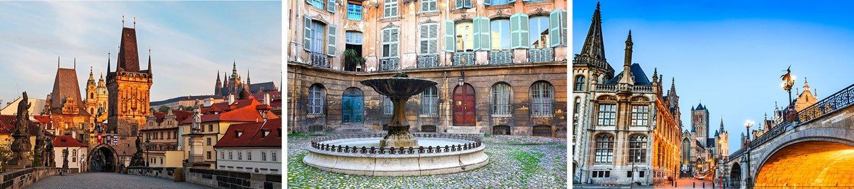 Praag, Aix-en-Provence en Gent