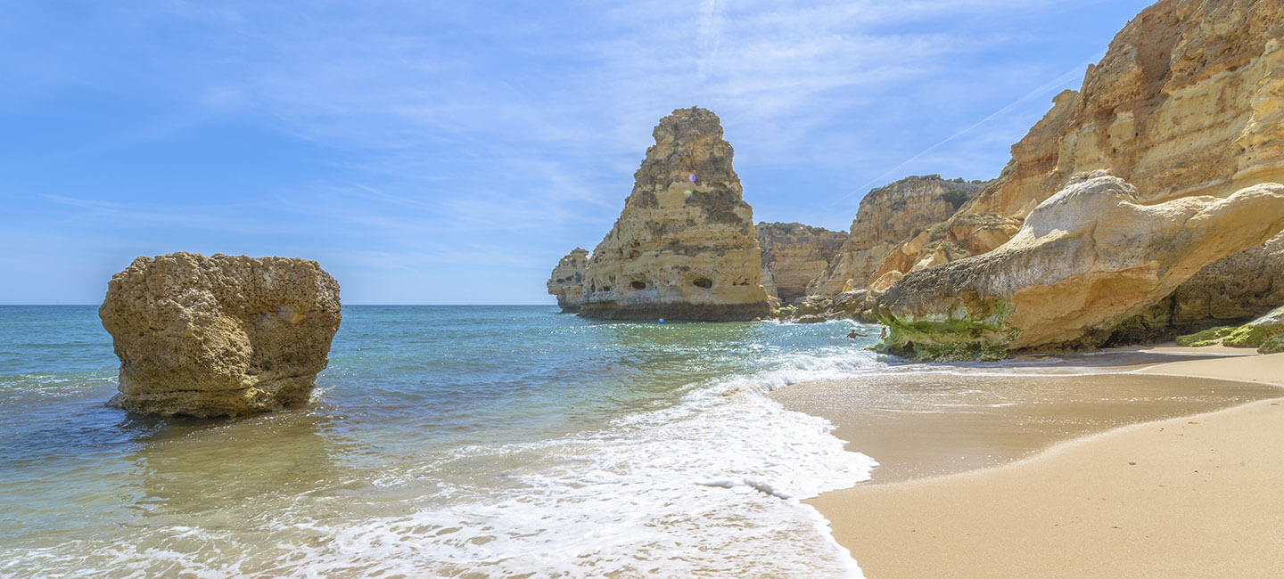 Praia da Marinha, Algarve, during winter