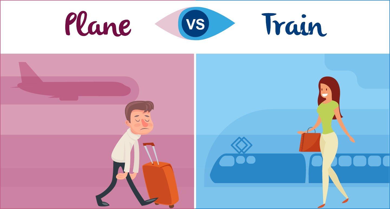Flugzeug vs. Zug