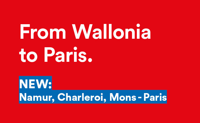 New connection: From Wallonia to Paris