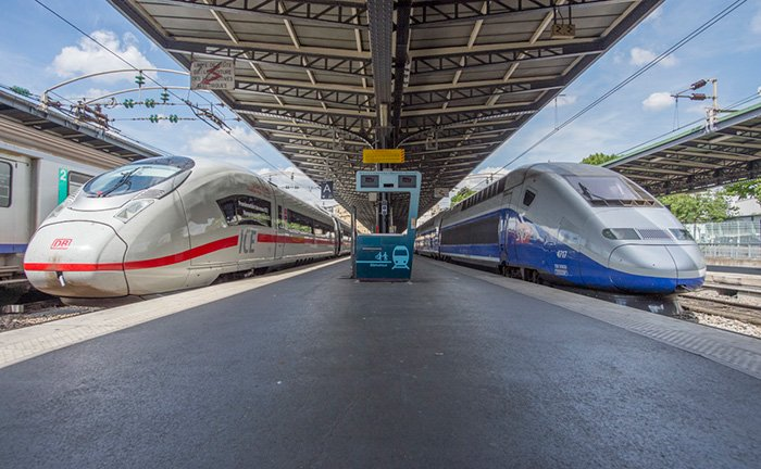 Trains TGV® and ICE reliant la France et l'Allemagne