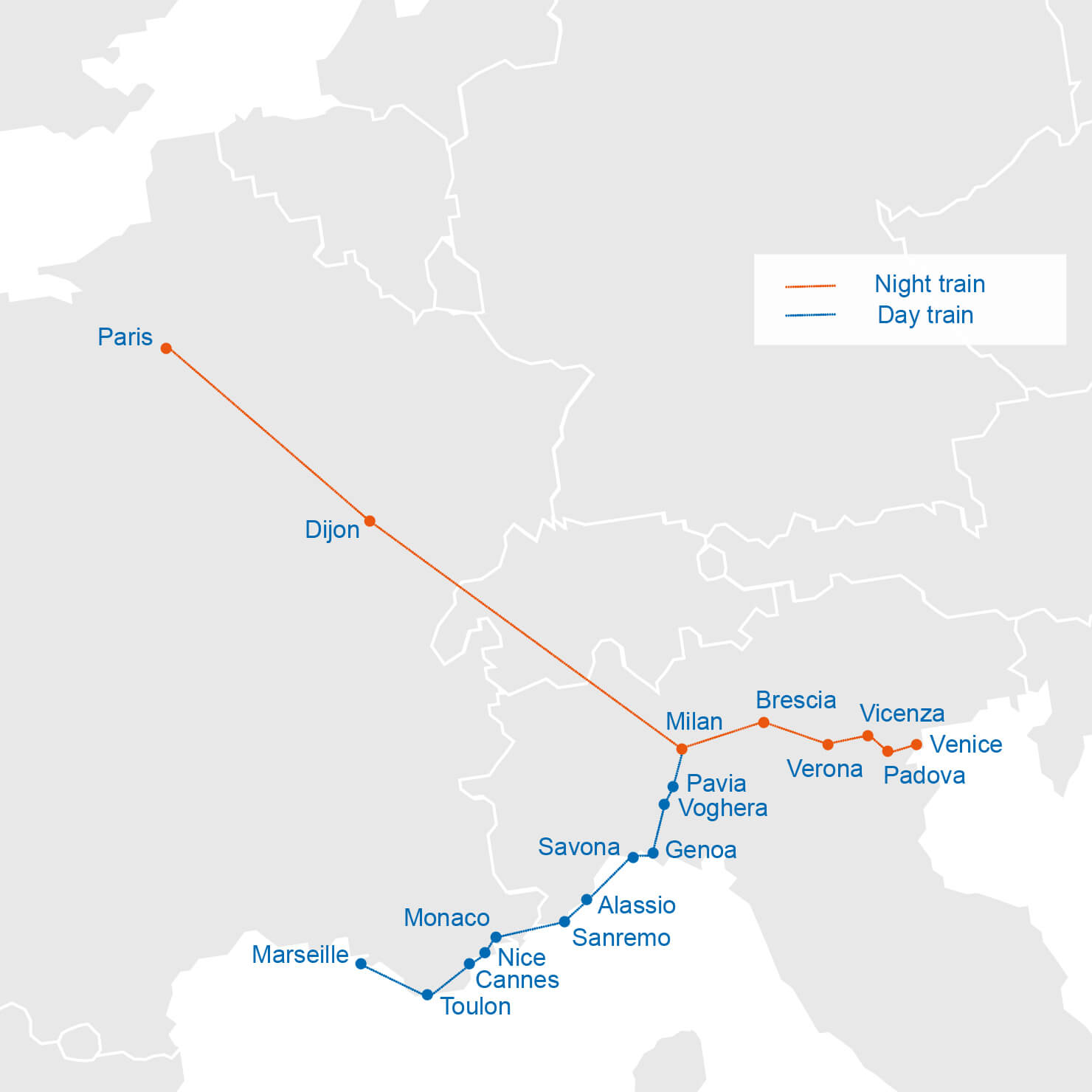 St Raphael France Map.Book Your Thello Train Tickets